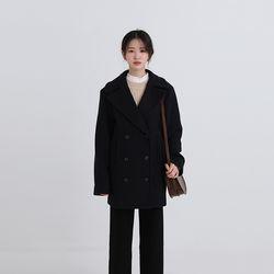 wool double side half coat (2colors)