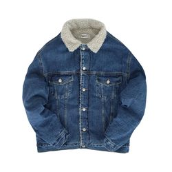 WASHING DENIM SHERPA JACKET(UNISEX) 워싱 데님 셰르파 자켓