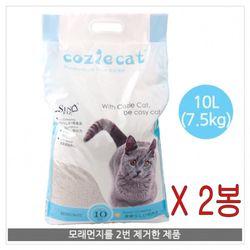 코시캣 고양이 화장실 모래 10LX2포 15kg벤토나이트 고양이모래