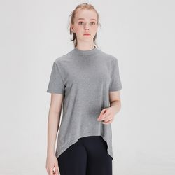 DURAN 에이라인 반목폴라 반팔 티셔츠 DFW5017 그레이