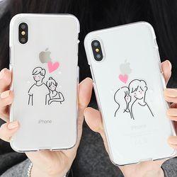 [Try]커플드로잉 젤리 케이스.아이폰5S(SE)