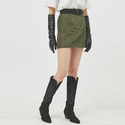 quilting mini skirt (2 color)