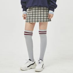 checked brook wool mini skirt (2 color)