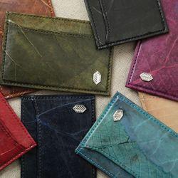 잎섬유 3포켓 카드 지갑