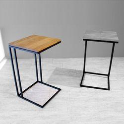 블랙 프레임 소파 테이블 (엘더)