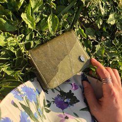잎섬유 6포켓 카드 반지갑