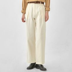 george pintuck cotton wide pants (s m)