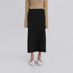 button pleats banding skirt (2colors)