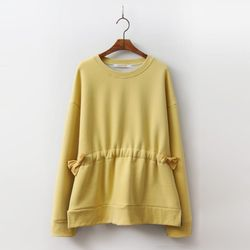 Cotton Shirring Sweatshirt