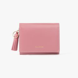 REIMS W015 Card Poket Wallet Rore Pink