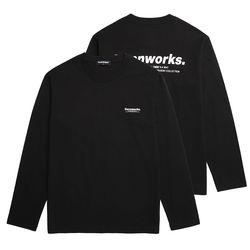 미니멀리즘 로고 롱슬리브 티셔츠 (VNAITS106) 블랙