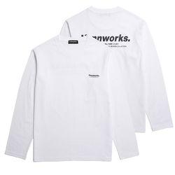 미니멀리즘 로고 롱슬리브 티셔츠 (VNAITS106) 화이트