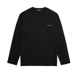 베이직 로고 자수 롱슬리브 티셔츠 (VNAITS116) 블랙