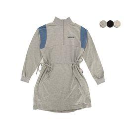 TWO BLOCK ANORAK DRESS(3COLOR)여성용 투 블럭 아노락 드레스