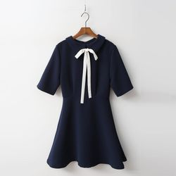 Ribbon Mini Dress