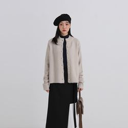 basic warm round cardigan (3colors)