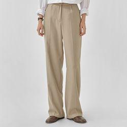 step stripe wide slacks (s m)