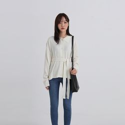 collar strap cardigan (2colors)