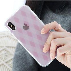 [Try]아가일체크 젤리 케이스.아이폰5S(SE)