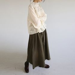 cutting detail flare skirt (3colors)