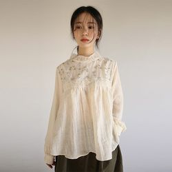 embroidery york lace blouse