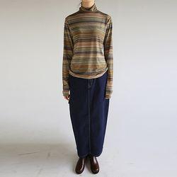loop detail denim skirt (2colors)