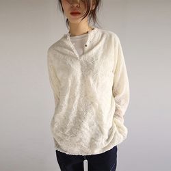 lace fluffy blouse knit