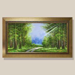 건승의숲길 풍수에좋은그림 복들어오는그림 유화그림