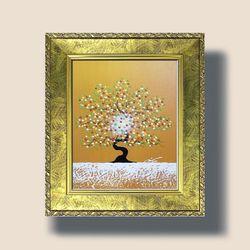 돈들어오는그림 복들어오는그림 행복한나무그림(주황)