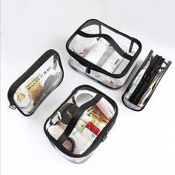 투명패킹 화장품파우치 메이크업박스 eco-h