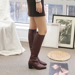 7cm 엣지 스타일 롱 부츠 FI-1611