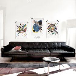 중형 패브릭 포스터 추상화 명화 그림 인테리어 액자 칸딘스키