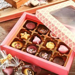 초콜릿 만들기 세트 (12구) - 핑크 사각