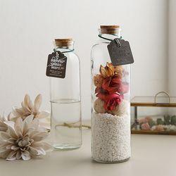 코르크마개 유리꽃화병 유리용기 (대)