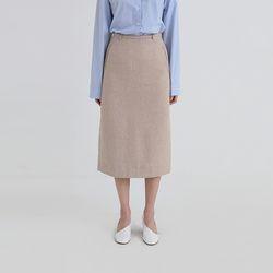 basic back zipper skirt (2colors)
