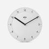 BRAUN Classic Wall Clock BC06 White