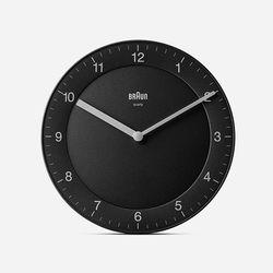 BRAUN Classic Wall Clock BC06 Black