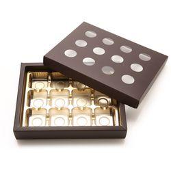 초콜릿박스 12구 원형 브라운