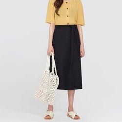 FRESH A midi linen skirt (s m)