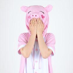 반팔 동물잠옷 돼지 (핑크)  복돼지