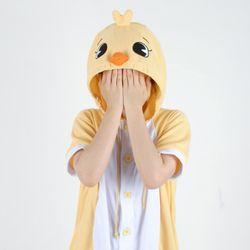 반팔 동물잠옷 병아리 (옐로우)
