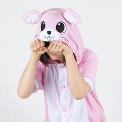 반팔 동물잠옷 마우스 (핑크)