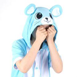 반팔 동물잠옷 마우스 (블루)