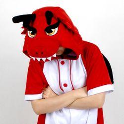 반팔 동물잠옷 드래곤 (레드)