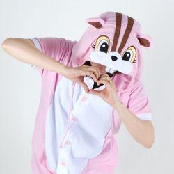 반팔 동물잠옷 다람쥐 (핑크)