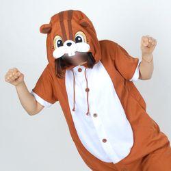 반팔 동물잠옷 다람쥐 (브라운)
