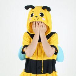 반팔 동물잠옷 꿀벌 (옐로우)