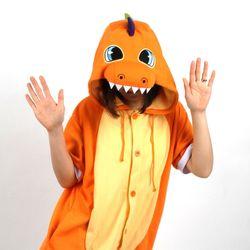 반팔 동물잠옷 공룡 (오렌지)