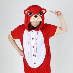 반팔 동물잠옷 곰 (레드)  불곰