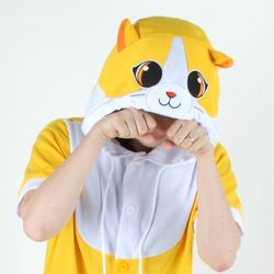 반팔 동물잠옷 큐티 고양이 (옐로우)